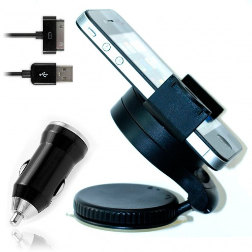 Mini car holder + Mini Car Charger + Cable iPhone 3 G/S/4 Mbps