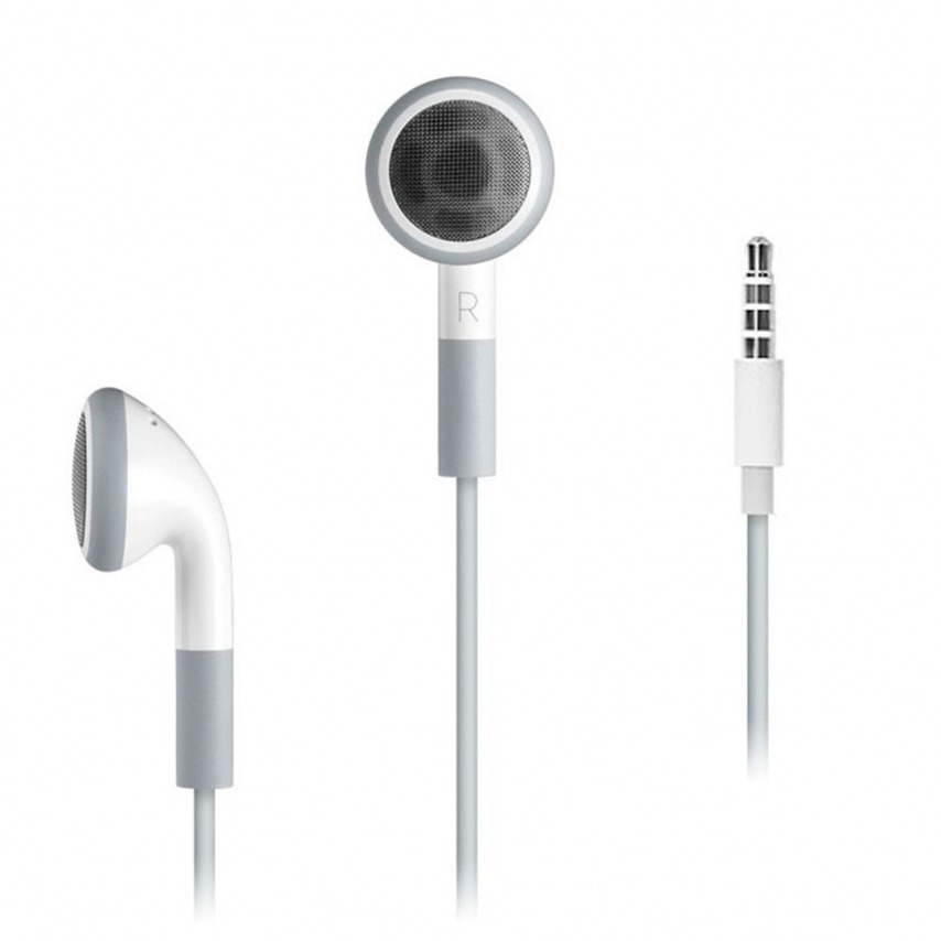 Pack headphones / handsfree white + sync cable for iPhone