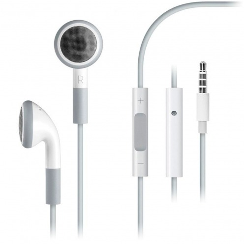 Headphones / handsfree with Mic & Volume white