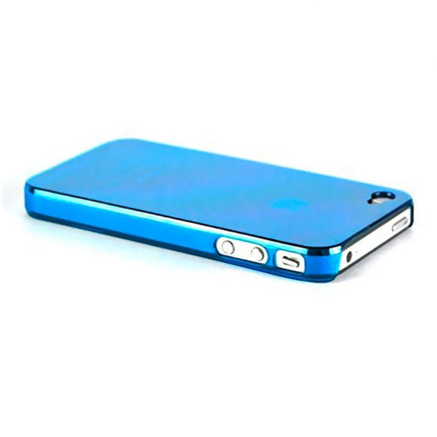 Extra Slim Crystal case for iPhone 4S/4 blue