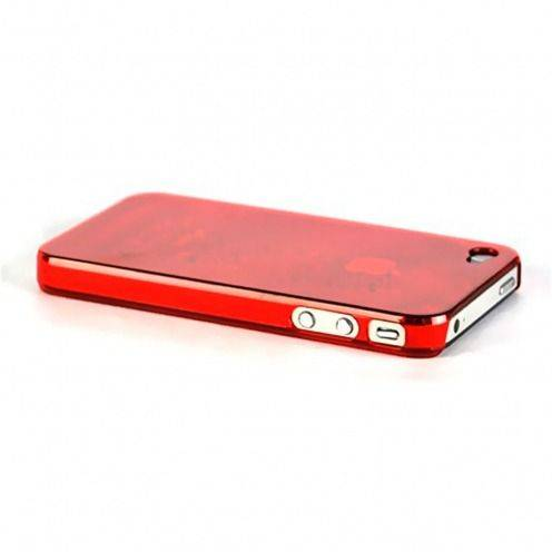 Extra Slim Crystal case for iPhone 4S/4 Red