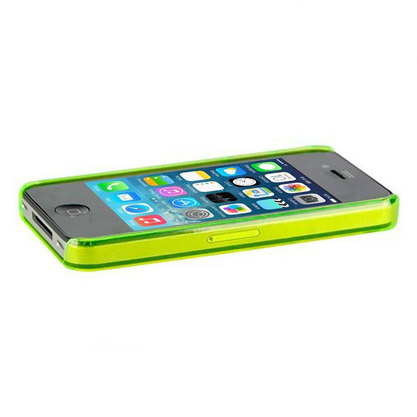 Extra Slim Crystal case for iPhone 4S/4 green