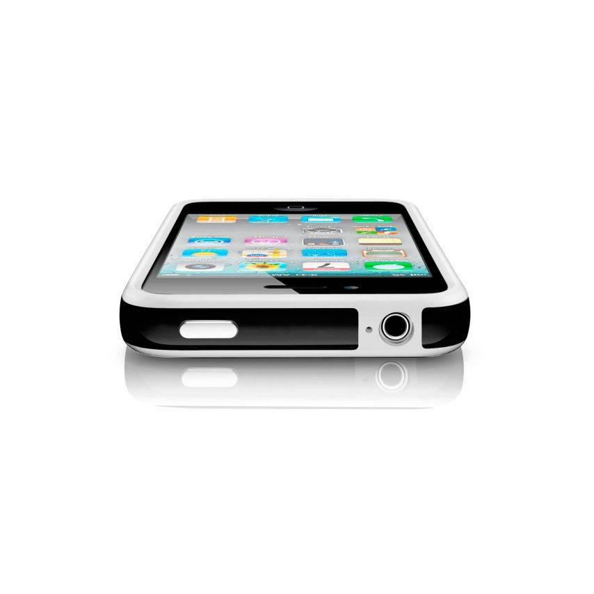 Bumper HQ white / black for iPhone 4 S / 4