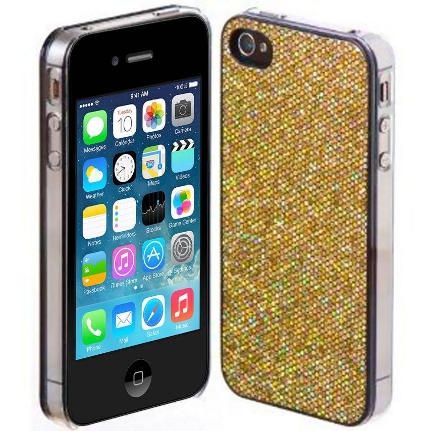 Luxury glitter and bling case for iPhone 4/4S Gold