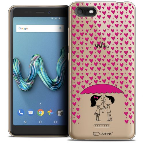 """Extra Slim Crystal Gel Wiko Tommy 3 (5.45"""") Case Love Pluie d'Amour"""