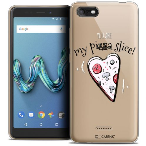 "Extra Slim Crystal Gel Wiko Tommy 3 (5.45"") Case Love My Pizza Slice"
