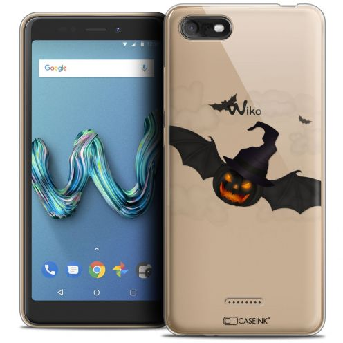 "Extra Slim Crystal Gel Wiko Tommy 3 (5.45"") Case Halloween Chauve Citrouille"