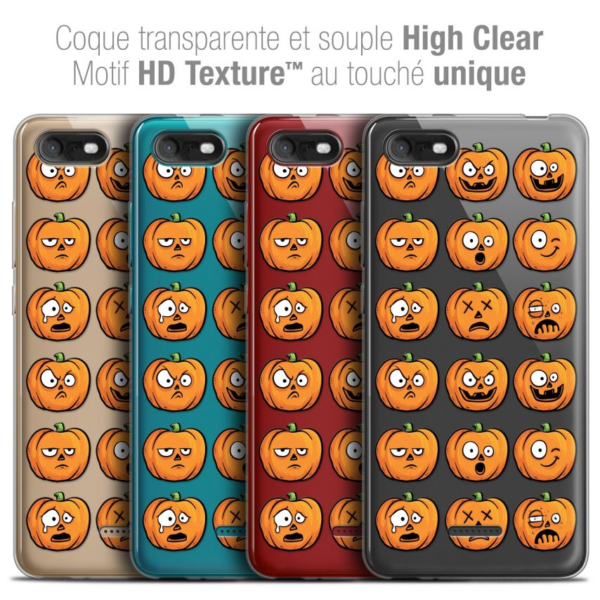 "Extra Slim Crystal Gel Wiko Tommy 3 (5.45"") Case Halloween Cartoon Citrouille"
