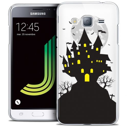 Coque Crystal Samsung Galaxy J3 2016 (J320) Extra Fine Halloween - Castle Scream