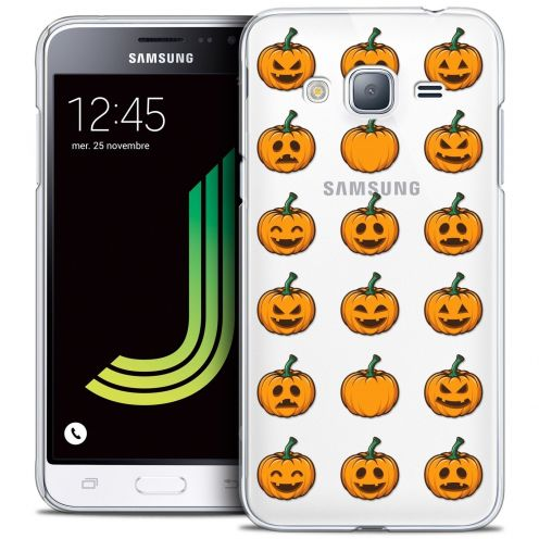 Coque Crystal Samsung Galaxy J3 2016 (J320) Extra Fine Halloween - Smiley Citrouille