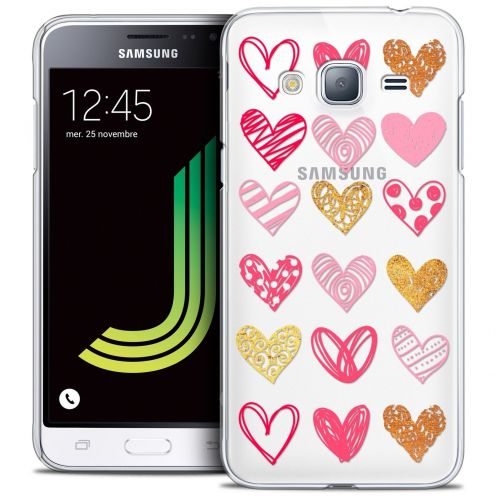 Coque Crystal Samsung Galaxy J3 2016 (J320) Extra Fine Sweetie - Doodling Hearts