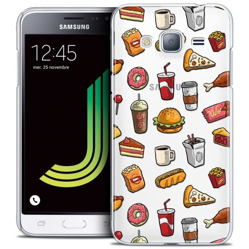 Coque Crystal Samsung Galaxy J3 2016 (J320) Extra Fine Foodie - Fast Food