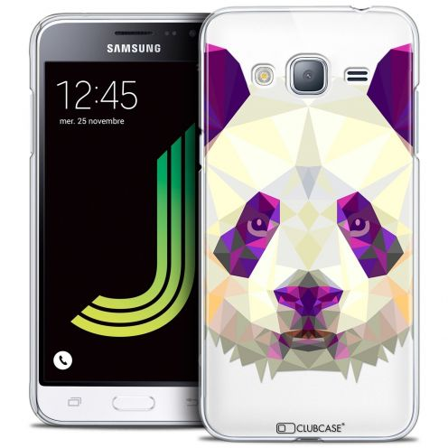 Coque Crystal Samsung Galaxy J3 2016 (J320) Extra Fine Polygon Animals - Panda