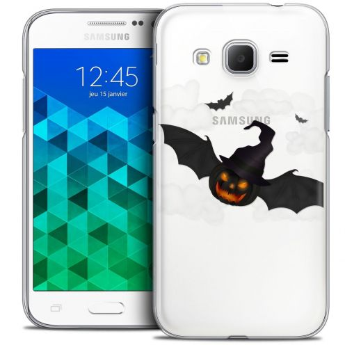 Coque Crystal Samsung Galaxy Core Prime (G360) Extra Fine Halloween - Chauve Citrouille