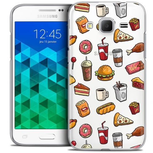 Coque Crystal Samsung Galaxy Core Prime (G360) Extra Fine Foodie - Fast Food