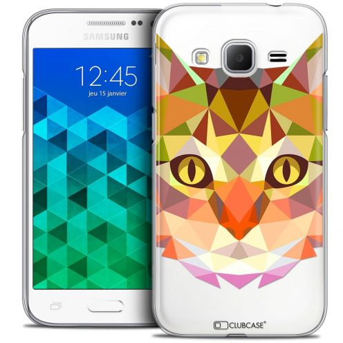 Coque Crystal Samsung Galaxy Core Prime (G360) Extra Fine Polygon Animals - Chat