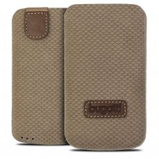 Bugatti® Genuine Leather Pouch Perfect Scale Size M Reed Brown