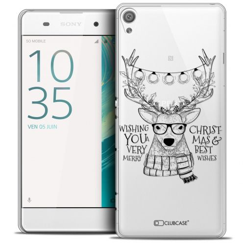 """Coque Crystal Sony Xperia XA 5"""" Extra Fine Noël 2016 - Cerf Hipster"""