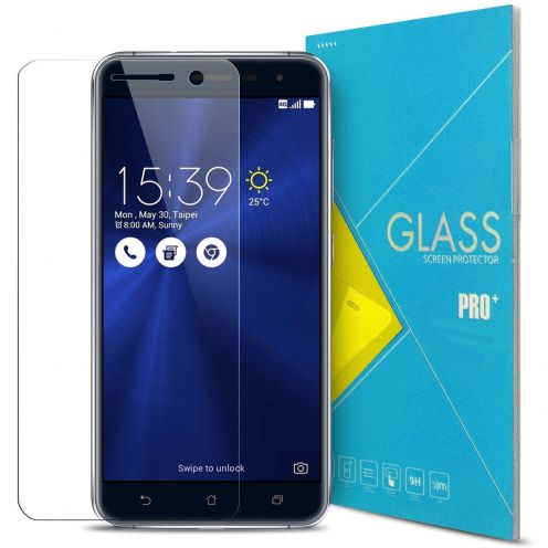 "Protection d'écran Verre trempé Asus Zenfone 3 ZE552KL 5.5"" - 9H Glass Pro+ HD 0.33 mm 2.5D"