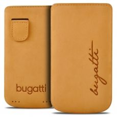 Bugatti® Genuine Leather Pouch Perfect Velvety Size M Honey