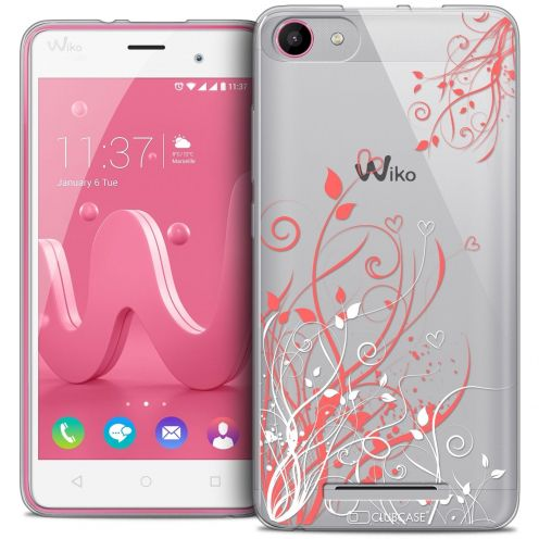 Coque Crystal Gel Wiko Jerry Extra Fine Love - Hearts Flowers