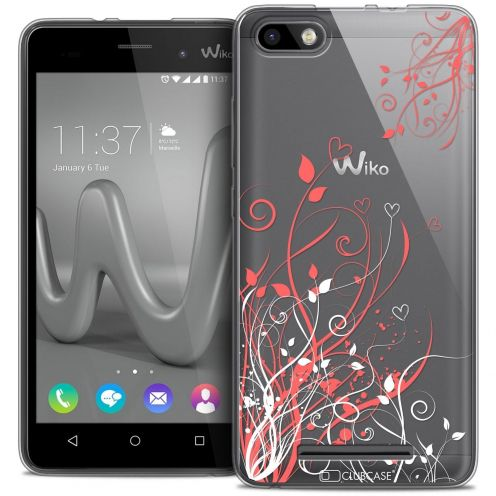 Coque Crystal Gel Wiko Lenny 3 Extra Fine Love - Hearts Flowers