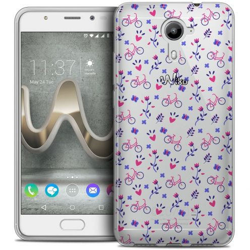 Coque Crystal Gel Wiko U Feel PRIME Extra Fine Love - Bicycle