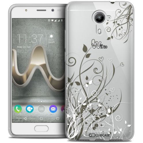 Coque Crystal Gel Wiko U Feel PRIME Extra Fine Love - Hearts Flowers