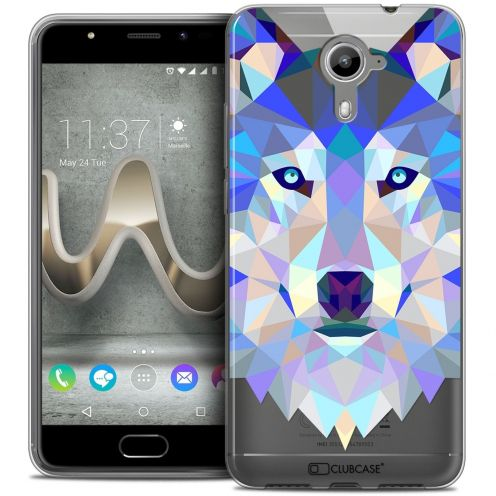 Coque Crystal Gel Wiko U Feel PRIME Extra Fine Polygon Animals - Loup