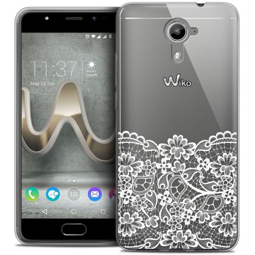 Coque Crystal Gel Wiko U Feel PRIME Extra Fine Spring - Bas dentelle