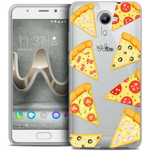 Coque Crystal Gel Wiko U Feel PRIME Extra Fine Foodie - Pizza