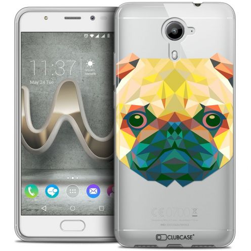 Coque Crystal Gel Wiko U Feel PRIME Extra Fine Polygon Animals - Chien