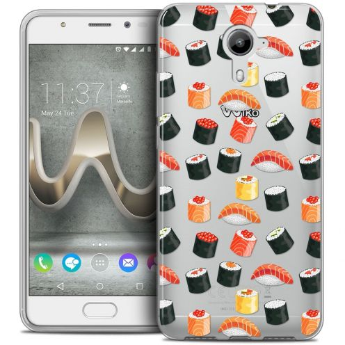 Coque Crystal Gel Wiko U Feel PRIME Extra Fine Foodie - Sushi