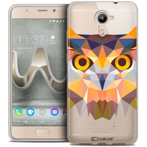 Coque Crystal Gel Wiko U Feel PRIME Extra Fine Polygon Animals - Hibou