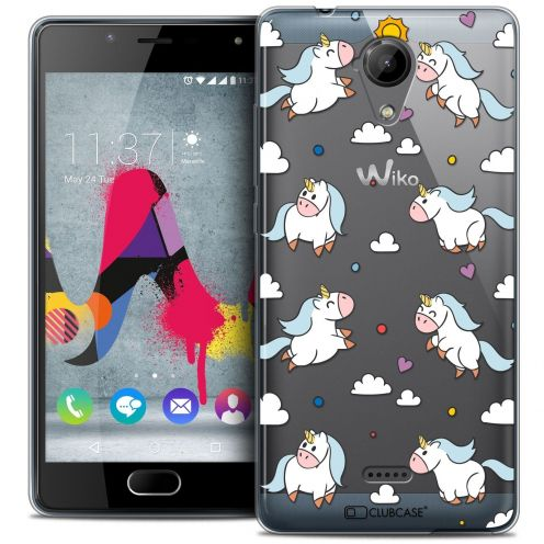 Coque Crystal Gel Wiko U Feel LITE Extra Fine Fantasia - Licorne In the Sky