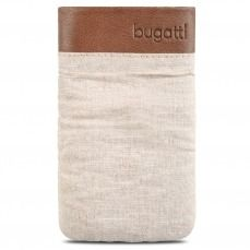 Bugatti® Genuine Leather Pouch Elements Size M 73x125mm Safari Beige