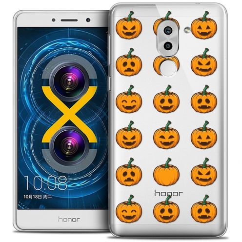 Coque Crystal Gel Huawei Honor 6X Extra Fine Halloween - Smiley Citrouille