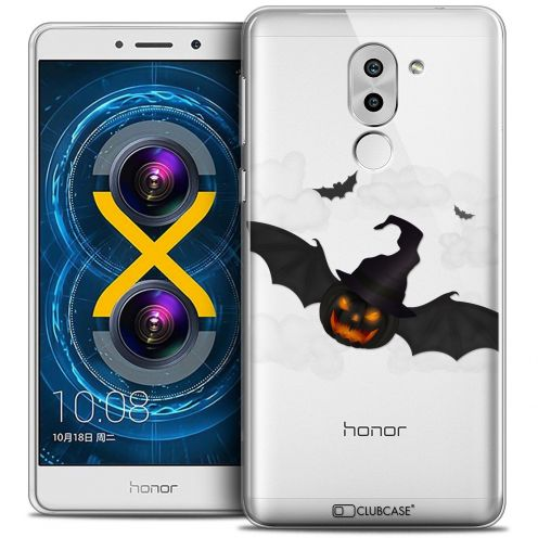 Coque Crystal Gel Huawei Honor 6X Extra Fine Halloween - Chauve Citrouille