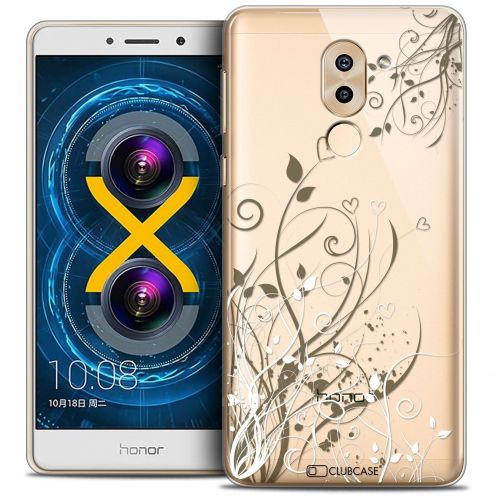 Coque Crystal Gel Huawei Honor 6X Extra Fine Love - Hearts Flowers