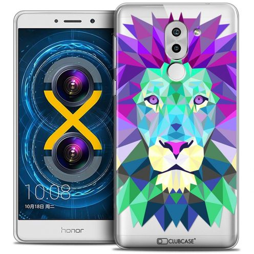 Coque Crystal Gel Huawei Honor 6X Extra Fine Polygon Animals - Lion