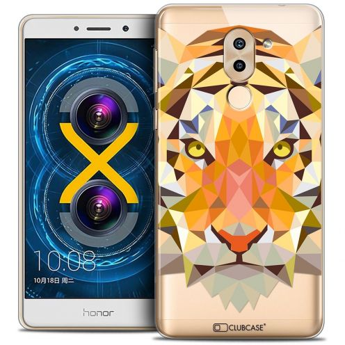 Coque Crystal Gel Huawei Honor 6X Extra Fine Polygon Animals - Tigre
