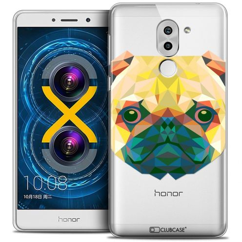 Coque Crystal Gel Huawei Honor 6X Extra Fine Polygon Animals - Chien