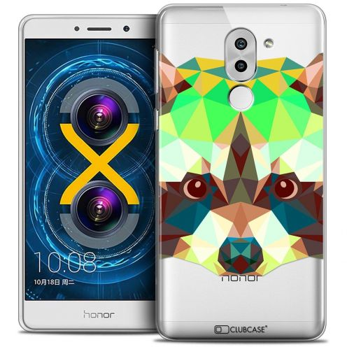 Coque Crystal Gel Huawei Honor 6X Extra Fine Polygon Animals - Raton Laveur