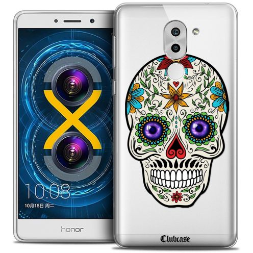 Coque Crystal Gel Huawei Honor 6X Extra Fine Skull - Maria's Flower