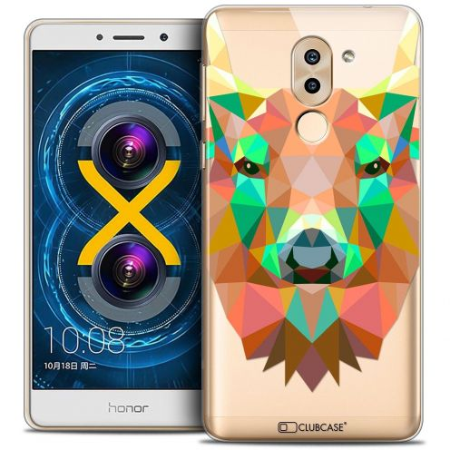 Coque Crystal Gel Huawei Honor 6X Extra Fine Polygon Animals - Cerf