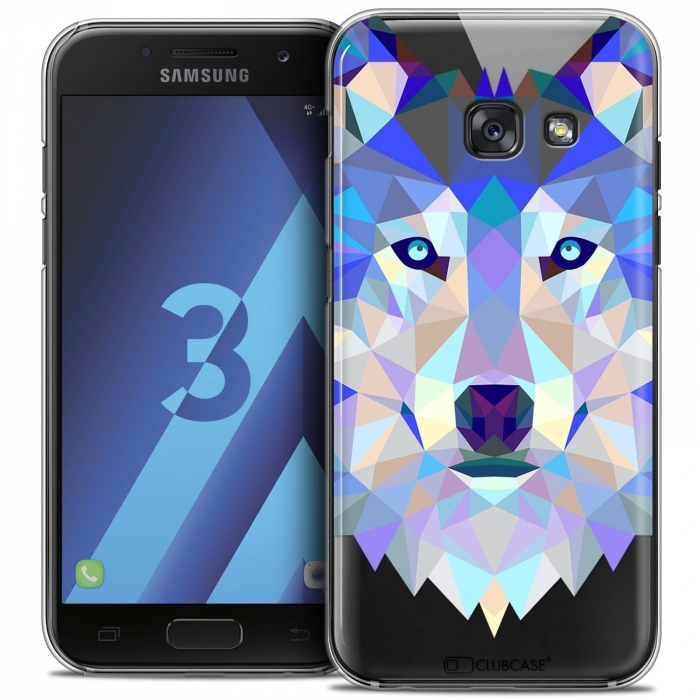 brand new 1e4e6 728ba Extra Slim Crystal Samsung Galaxy A3 2017 (A320) Case Polygon Animals Wolf
