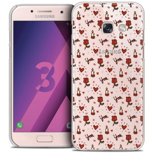 Coque Crystal Samsung Galaxy A3 2017 (A320) Extra Fine Love - Bougies et Roses