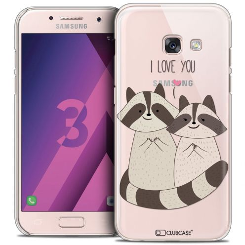 Coque Crystal Samsung Galaxy A3 2017 (A320) Extra Fine Sweetie - Racoon Love