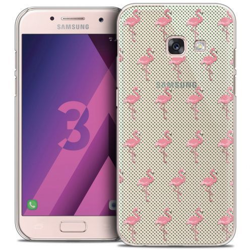 Coque Crystal Samsung Galaxy A3 2017 (A320) Extra Fine Pattern - Les flamants Roses Dots