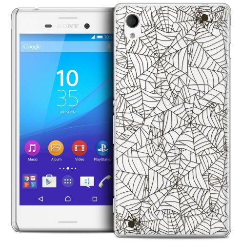 Coque Crystal Sony Xperia M4 Aqua Extra Fine Halloween - Spooky Spider